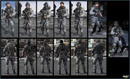 Russian urban troop models MW3