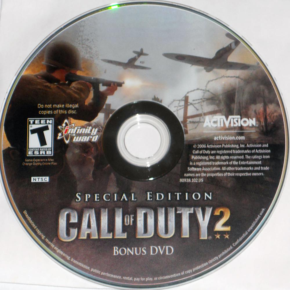 call of duty 2 special edition bonus dvd call of duty