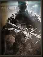 Soldier holding a M4A1 BOII poster