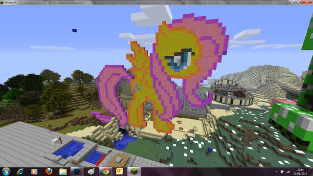 File:Fluttershy in Minecraft.png