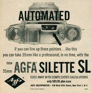 Original 1958 Print Ad for the Agfa Silette SL Automated 35mm Camera
