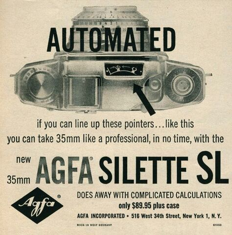 File:Original 1958 Print Ad for the Agfa Silette SL Automated 35mm Camera.jpg