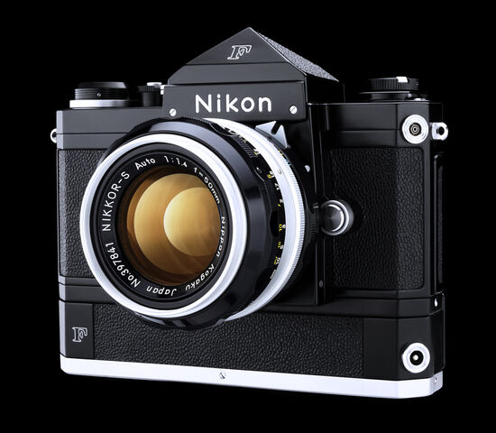 File:Nikon F Motor Black Camera 50mm Austin Calhoon Photograph.jpg