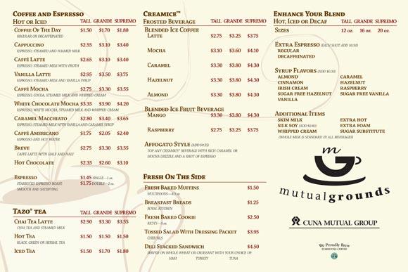Starbucks-menu