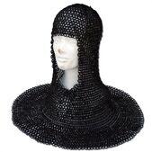 Medieval Wedged Rivet Steel Chainmail Coif Armor 1