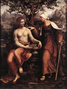 Pomona and Vertumnus by Francesco Melzi