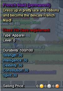 French Maid Description