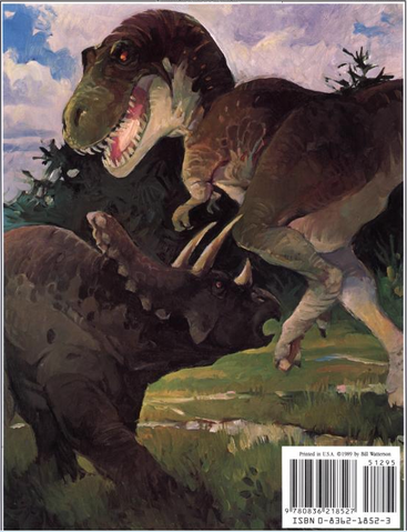 File:Tyrannosaurus on The Calvin and Hobbes Lazy Sunday Book- Back.png