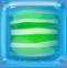 Striped Candy in Blue Jelly cube