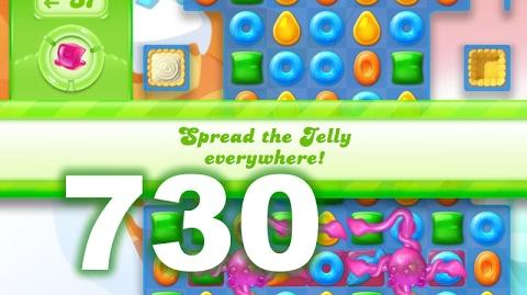 Candy Crush Jelly Saga Level 730 (No boosters)