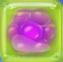 Purple in Green Jelly cube
