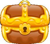 Treasure chest brown closed