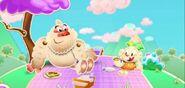 Jenny and Mr. Yeti go picnic