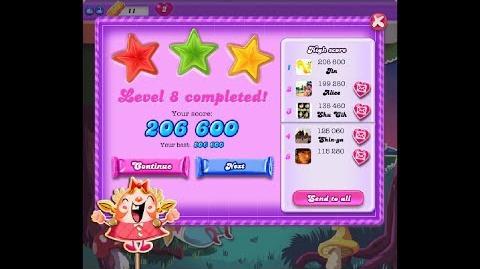 Candy Crush Saga Dreamworld Level 8 ★★★ 3 Stars