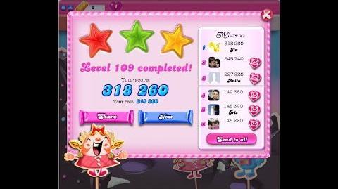Candy Crush Saga Level 109 ★★★ NO BOOSTER
