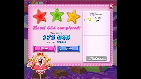 Candy Crush Saga Level 654 ★★★ NO BOOSTER