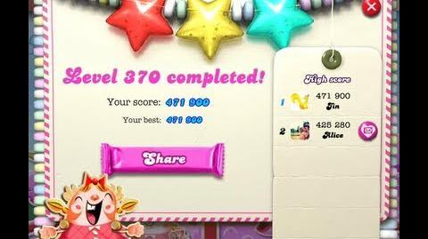 Candy Crush Saga Level 370 - NO BOOSTER