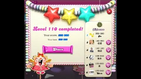 Candy Crush Saga Level 110 ★★★ - 332 080 points