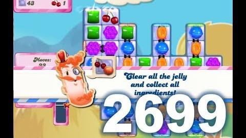 Candy Crush Saga Level 2699 (Super hard level, 3 stars, 2 Switch boosters used)
