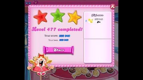 Candy Crush Saga Level 477 ★★★ NO BOOSTER