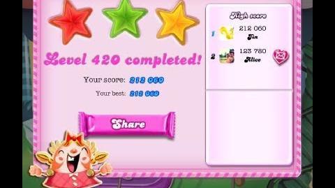 Candy Crush Saga Level 420 ★★★-0