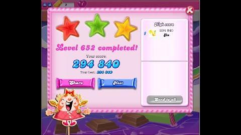 Candy Crush Saga Level 652 ★★★ NO BOOSTER