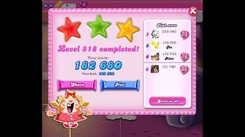 Candy Crush Saga Level 518 ★★★ NO BOOSTER