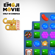 The Emoji Movie with Candy Crush cover