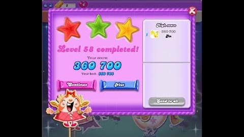 Candy Crush Saga Dreamworld Level 58 ★★★ 3 Stars
