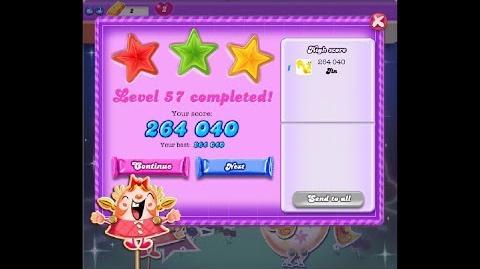 Candy Crush Saga Dreamworld Level 57 ★★★ 3 Stars