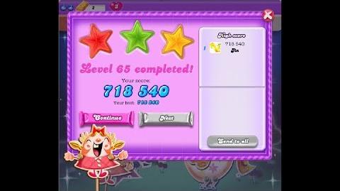 Candy Crush Saga Dreamworld Level 65 ★★★ 3 Stars