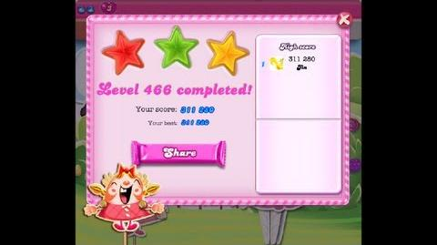 Candy Crush Saga Lavel 466 ★★★ NO BOOSTER 311 280 points