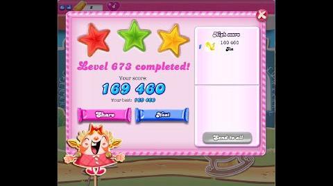 Candy Crush Saga Level 673 ★★★ NO BOOSTER