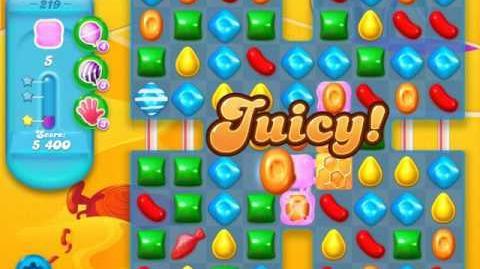 Candy Crush Soda Saga Level 219 (buffed, 3 Stars)