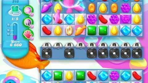 Candy Crush Soda Saga Level 218 (5th version, 3 Stars)