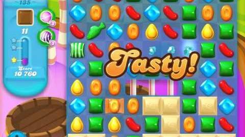 Candy Crush Soda Saga Level 135 (5th version, 3 Stars)