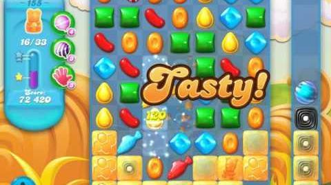 Candy Crush Soda Saga Level 155 (9th version, 3 Stars)