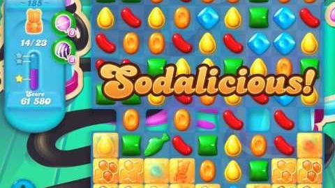Candy Crush Soda Saga Level 185 (2nd nerfed, 3 Stars)
