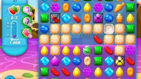 Candy Crush Soda Saga Level 21 (4th version, 3 Stars)