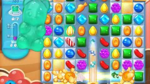 Candy Crush Soda Saga Level 105 (7th version, 3 Stars)