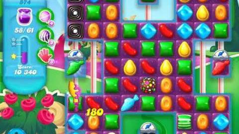 Candy Crush Soda Saga Level 874 (5th version, 3 Stars)