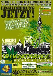 Berlin 2006 Hanfparade August 5