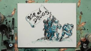 War on Drugs. Iwo Jima. By Molly Crabapple