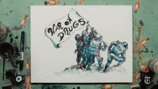 War on Drugs. Iwo Jima. By Molly Crabapple