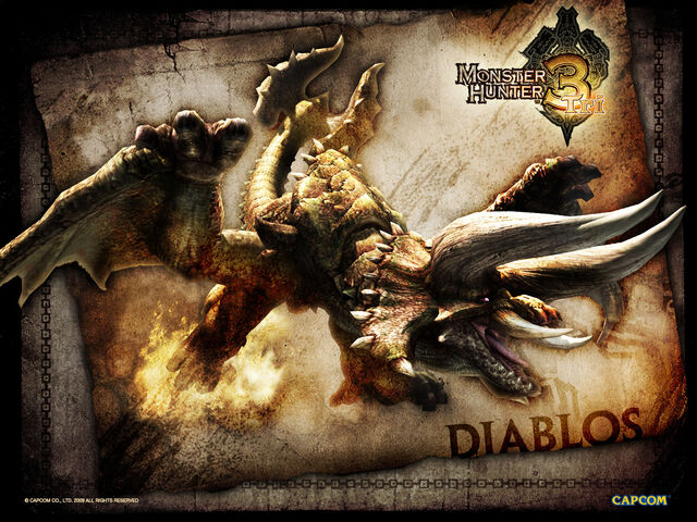 File:Monster Hunter 3 Tri wallpaper Diablos.jpg