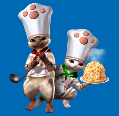 File:MHF Felyne Chefs.png