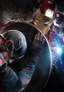 Textless Iron Man Civil War Poster