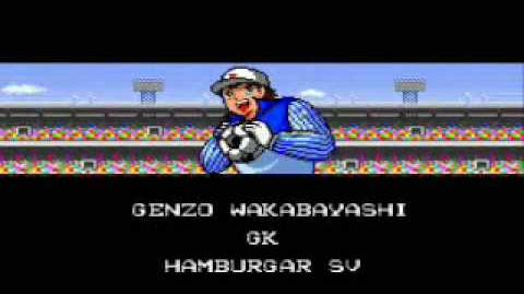 Captain Tsubasa 3 Super Campeones SNES Famicom soccer intro