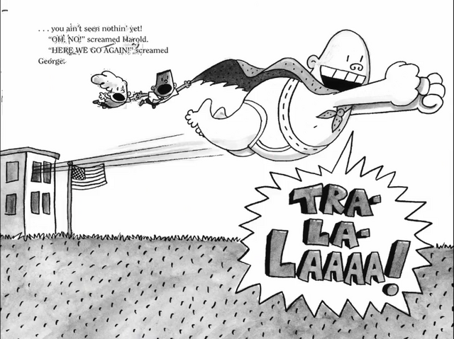 File:Captain Underpants with is new super powers flies out with instead of running.png
