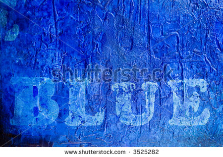Stock-photo-word-quot-blue-quot-printed-on-abstract-blue-painting-painting-was-created-by-photographer-3525282
